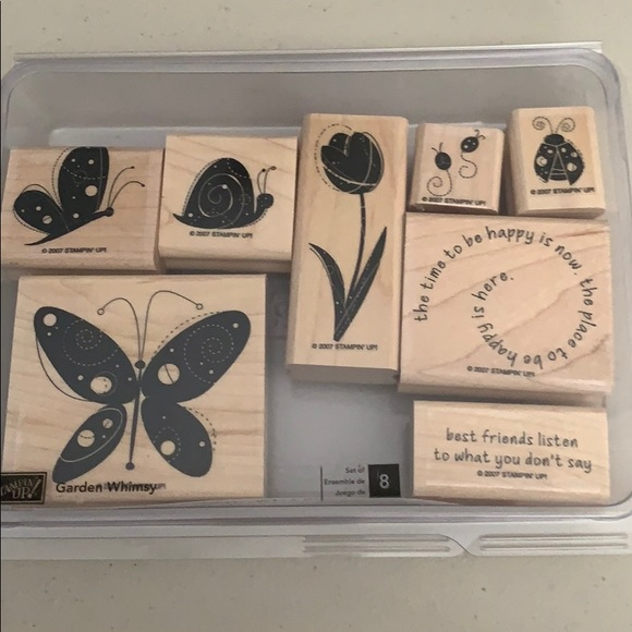 🍀3/$25 - Stampin Up! Garden Whimsy set